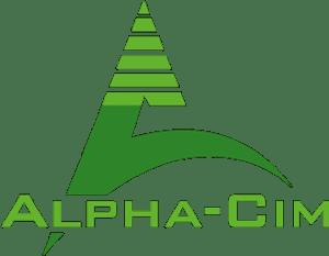 Logo de l'entreprise ALPHA-CIM, expert en automatisme en vert